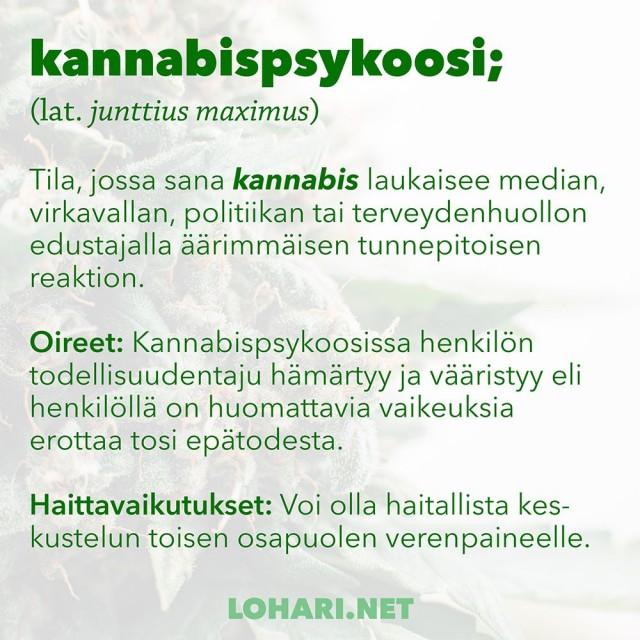 """Urbaani legenda """"kannabispsykooseista"""" viedään historiankirjoihin hästägillä #KANNABISPSYKOOSI."""