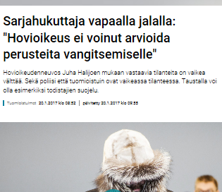 Kuvan- eli hatunkaappaus Yle - päivitetelty 20.1.2017 klo 09:55