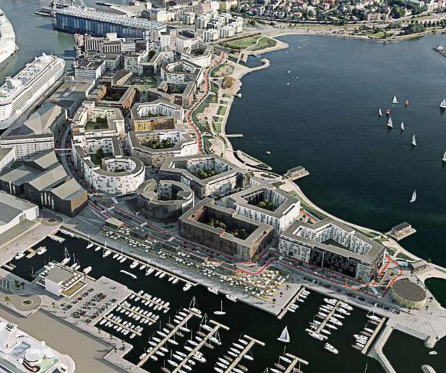 Havainnekuva kaupunkisuunnittelulautakunnan esityksestä.