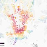 Tämä kartta kertoo, missä Helsingissä kannattaa asua, että pääsee helposti julkisilla duuniin ja oluelta himaan