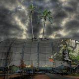 Trooppinen paratiisi vanhan lentokonehallin sisällä aiheuttaa matkakuumetta