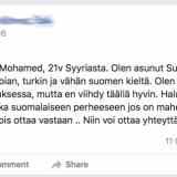 Mohammed tuli taloon