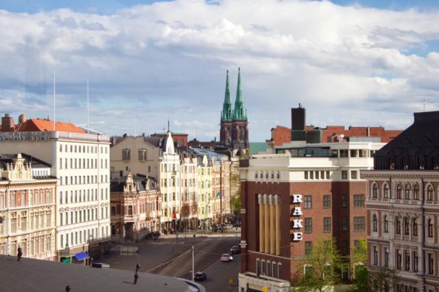 Stockmann Roofilta on mahtavat näkyvät Erottajan suuntaan.