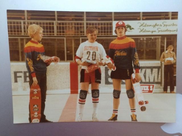 Ensimmäiset skeittikisat järjestettiin Suomessa 1978 ja ensimmäiset SM-skabat 1979.