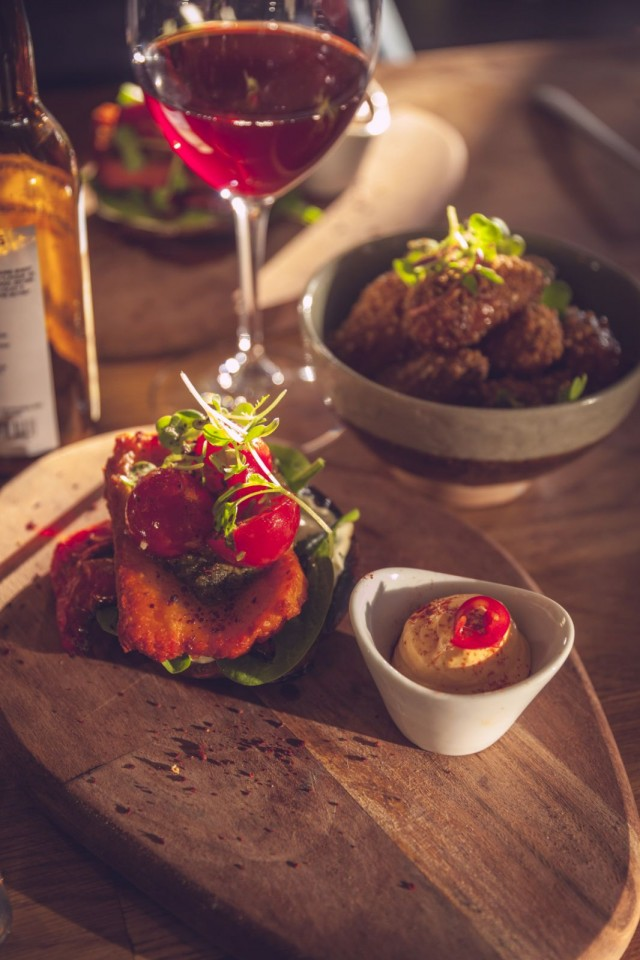 Portobello slider, maistuva mutta tuhti annos joka poikkesi vähän liikaa Street food meiningistä.