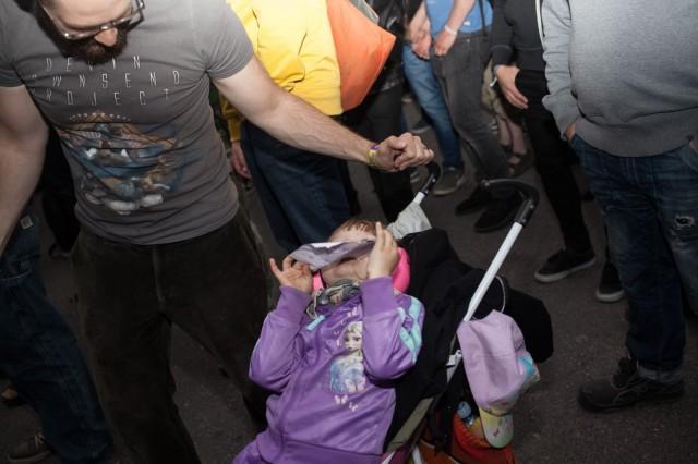Myös perheen pienimmät viihtyivät Tuskassa.