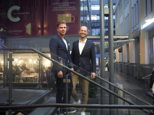Matti Sarkkinen ja Anders Westerholm.