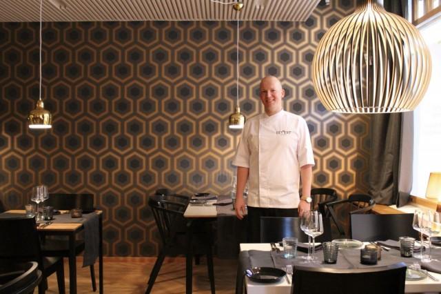 Eevertin keittiömestari Sven Denis.