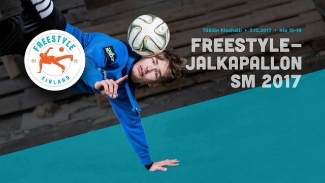 Freestyle-jalkapallon SM-kisat pidetään Töölön Kisahallissa 2.12.2017 klo 15:00-19:00.