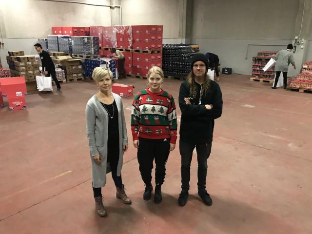 Woltin, Hope ry:n ja Bob the Robotin yhteistyö joulumielen levittämiseksi on sujunut loistavasti.