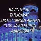 Lux Helsinki Eat – Blinit, luksushodarit, sushi, upeat menut ja muut herkut tuovat makua valofestivaaliin