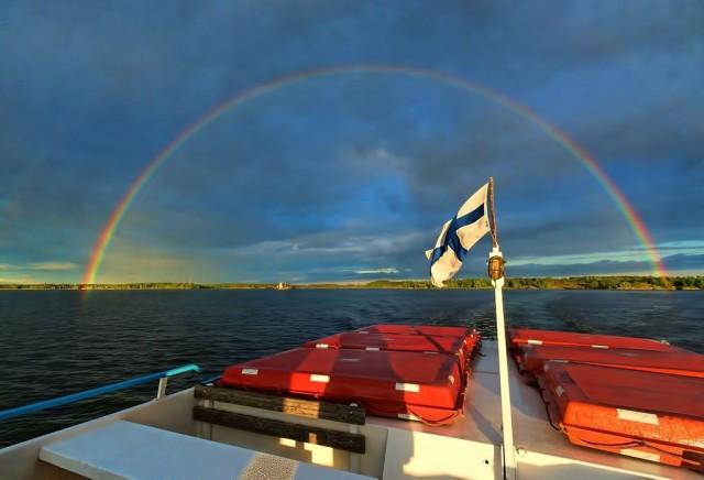 Kukapa olisi arvannut? Sateenkaaren päästä löytyikin Suomi.