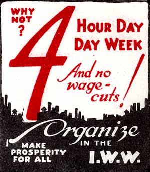 """""""Miksei 4 tuntia/päivä työviikkoa - eikä palkanalennuksia!"""" (1940-luku)"""