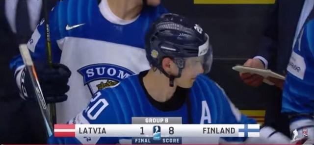 Latvia - Suomi 1 - 8, Sebastian Aho