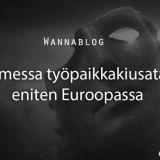 Suomessa työpaikkakiusataan eniten Euroopassa