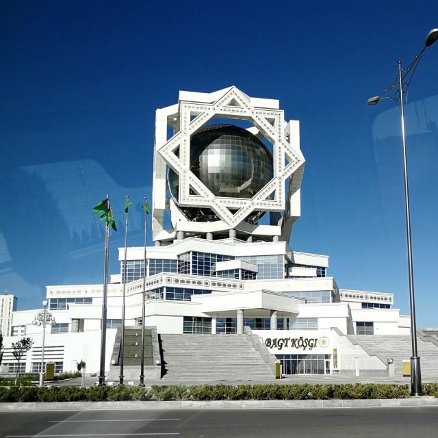 Hulppea hotelli Turkmenistanissa.