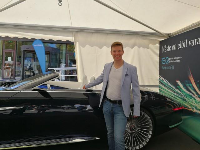 Sähköautoja tulee kaikilta valmistajilta. Tämä Mercedes Benzin Maybach sähköauto vaatii paksumpaa lompakkoa.