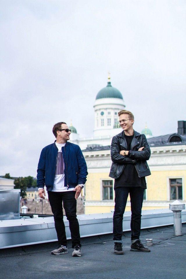 Ville Tikkanen ja Alvar Tallskog.