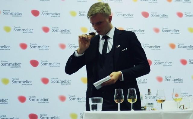 Suomen karsinnan finaalissa testattiin muun muassa viinien ja muiden alkoholijuomien tunnistamista.