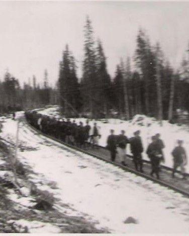 Suomalaiset käyttivät Kiestingissa veturien puuttuessa valmista ratalinjaa muulla tavoin hyödykseen