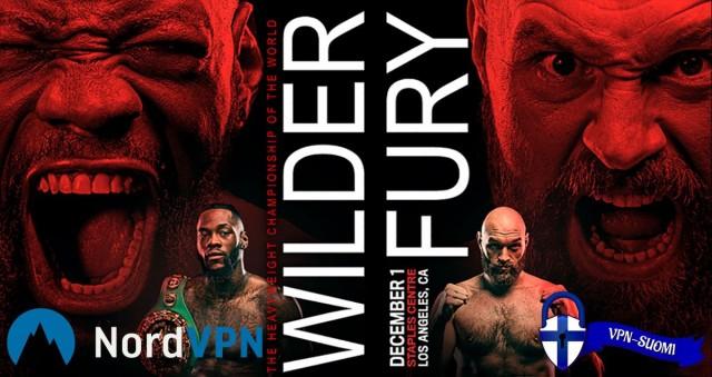 Deontay Wilder vs Tyson Fury ilmaiseksi ja laillisesti netissä!