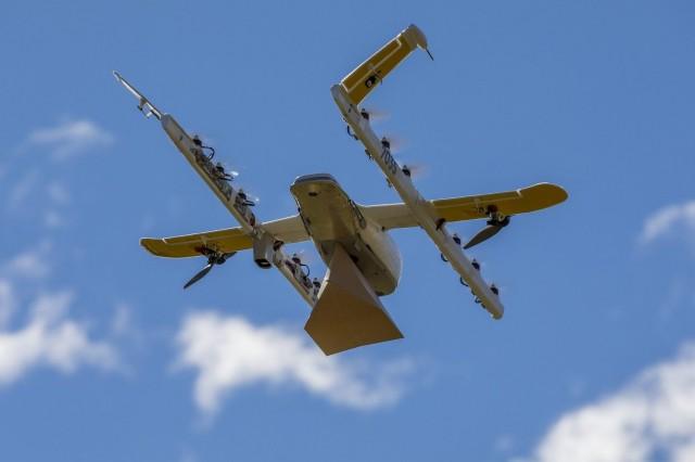 Tältä näyttää Wingin kotiinkuljetusdrone.