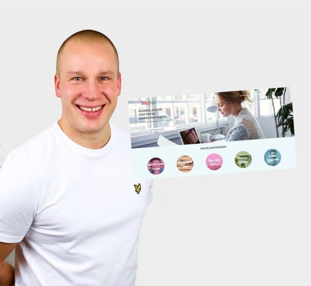 Paul Arpikari on saanut mukaan B2Bmarket.fi palveluun jo 40 yritystä kotisivujen tekijöistä tilitoimistoihin ja videotuotannoista Facebook –mainonnnan koulutuksiin.