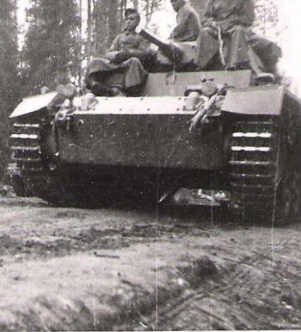Saksalainen panssari Kiestingissä
