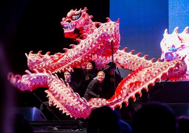 Lohikäärmetanssi on olennainen osa kiinalaisen uudenvuoden juhlintaa.