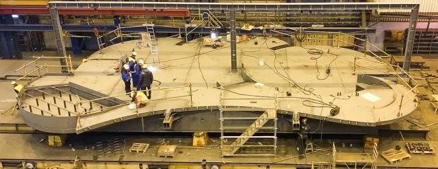 Terassia rakennetaan parhaillaan Rauman telakalla.