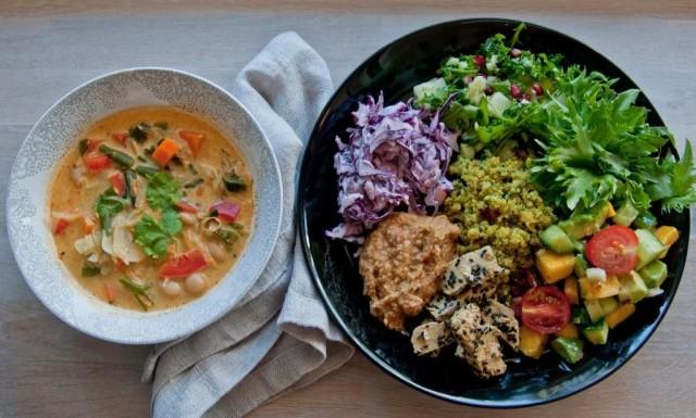 Anne's Vegessä on tarjolla viikoittain vaihtuva vegaaninen buffet.