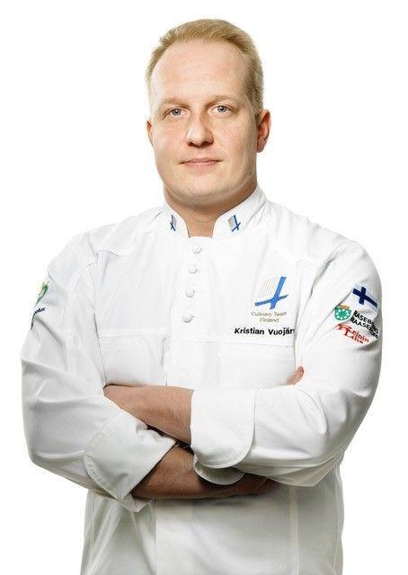 Kristian Vuojärvi on kokkikilpailujen kokenut konkari. Nyt hän johtaa Suomen kokkimaajoukkuetta.