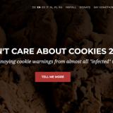 Kroatialaisen Daniel Kladnikin kehittämä Chrome lisäosa I don't care about cookies on toiminut hyvin.