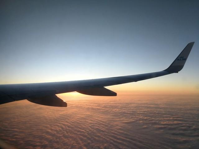 Saksaan menee hyvin lentoja, monesti melko aikaisin ennen heräämistä.