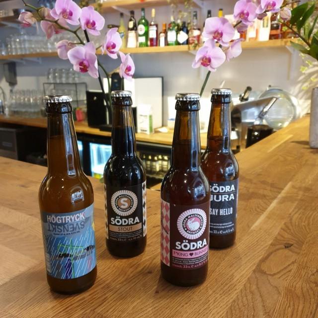 Söderin valikoimasta löytyy myös ruotsalaispanimo Södran oluita.
