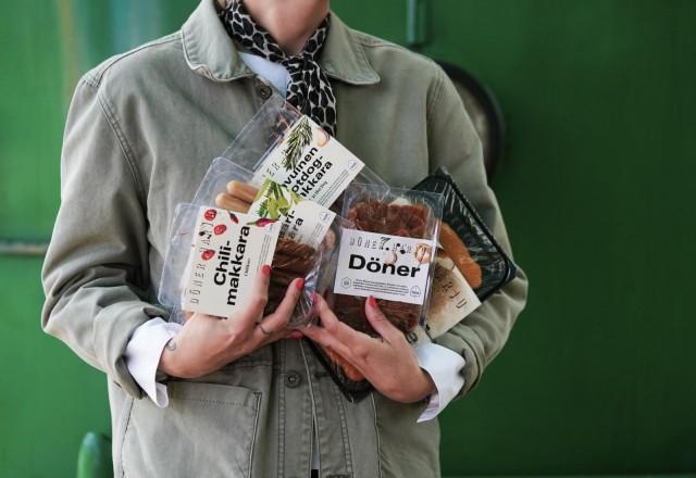 Döner Harjun kasvismakkarat, seitankebab ja herkkutattileike ovat vegaanisia.