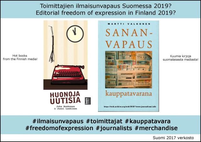 Kuumat kirjat suomalaisesta media-alasta.