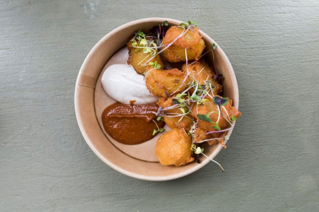 Ravintola Kuurnan The Best Potatoes in Town oli nimensämukainen annos.
