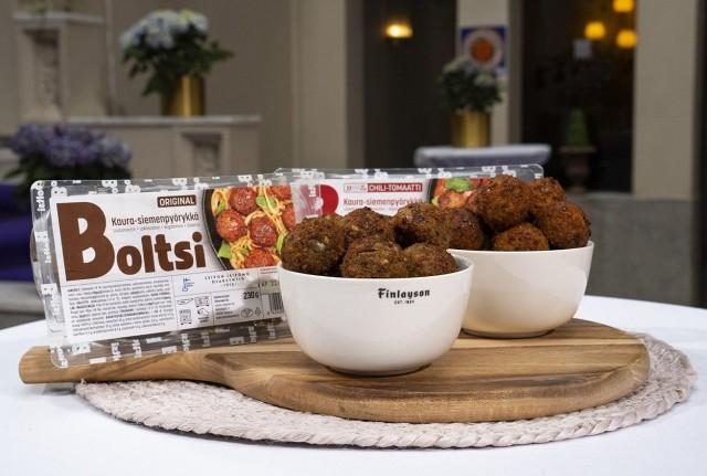 Boltsi-pyörykkä on vegaaninen ja soijaton vaihtoehto lihapullille.