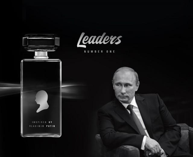 Markkinahenkistä Putinia juhlitaan Venäjällä useiden tuotteiden kautta. Leaders: Number One -luksushajuvesi ilmestyi markkinoille vuonna 2016.