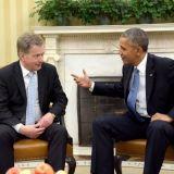 Presidentti Sauli Niinistö ja presidentti Barack Obama tapasivat Washingtonissa vuonna 2014. Tapaamisen aiheena oli turvallisuus. Valokuva: Presidentti.fi