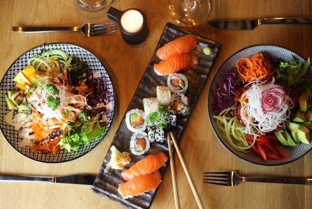 Shibuin annoksissa maistuvat japanilaiset, korealaiset ja thaimaalaiset vaikutteet.