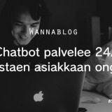 Chatbot palvelee 24/7 tunnistaen asiakkaan ongelmat
