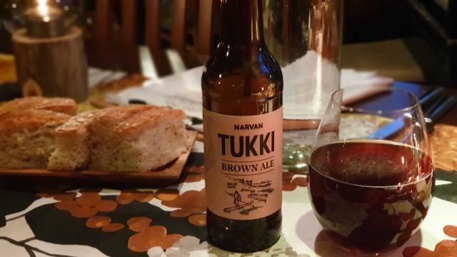 Peurarilleten kanssa maistui Narvan kyläpanimon Tukki Brown Ale.