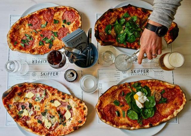 Skifferin pizzat tunnetaan laajalti.