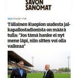 Kuopion uusi jalkapallostadion