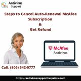 Cancel Auto Renewal McAfee Subscription