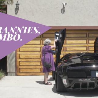 Video: Mummelit lähtivät ajelulle Lamborghinilla